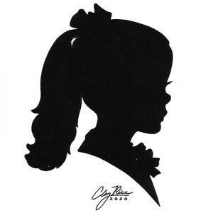 side profile of a girl with a ponytail